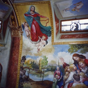 Religious frescoes for a private chapel