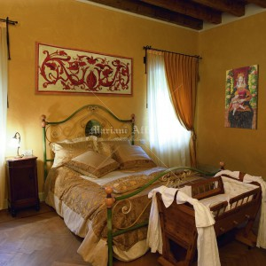 Frescoes fixed on a frame for a bedroom