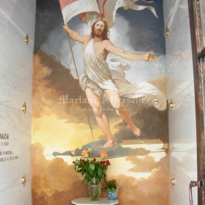 Religious fresco depicting the Resurrection of Christ for private cemetery chapel