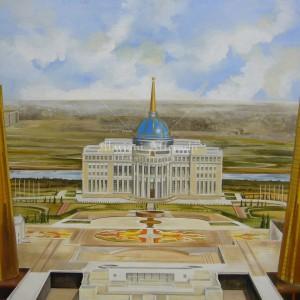 "Fresco reproduction of ""Akorda"". Presidential Palace of Kazakhstan (Astana)"