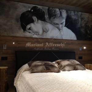 Fresco portrait for a bedroom