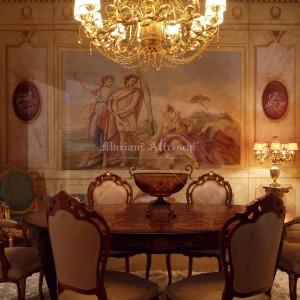 """Ville Venete"" Hall. Tiepolo-inspired frescoes on a panel"