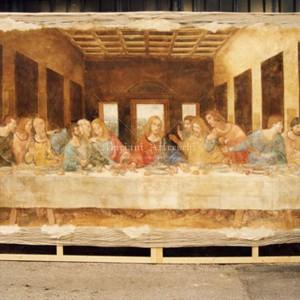 "Reproduction of fresco on canvas. ""The Last Supper"" by Leonardo da Vinci for the Mikuni restaurant in Tokyo. Size 280 x 450 cm"