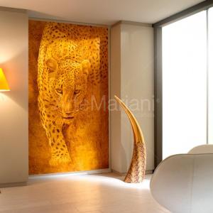 """Leopard"" on gold leaf. ArteMariani modern collection"