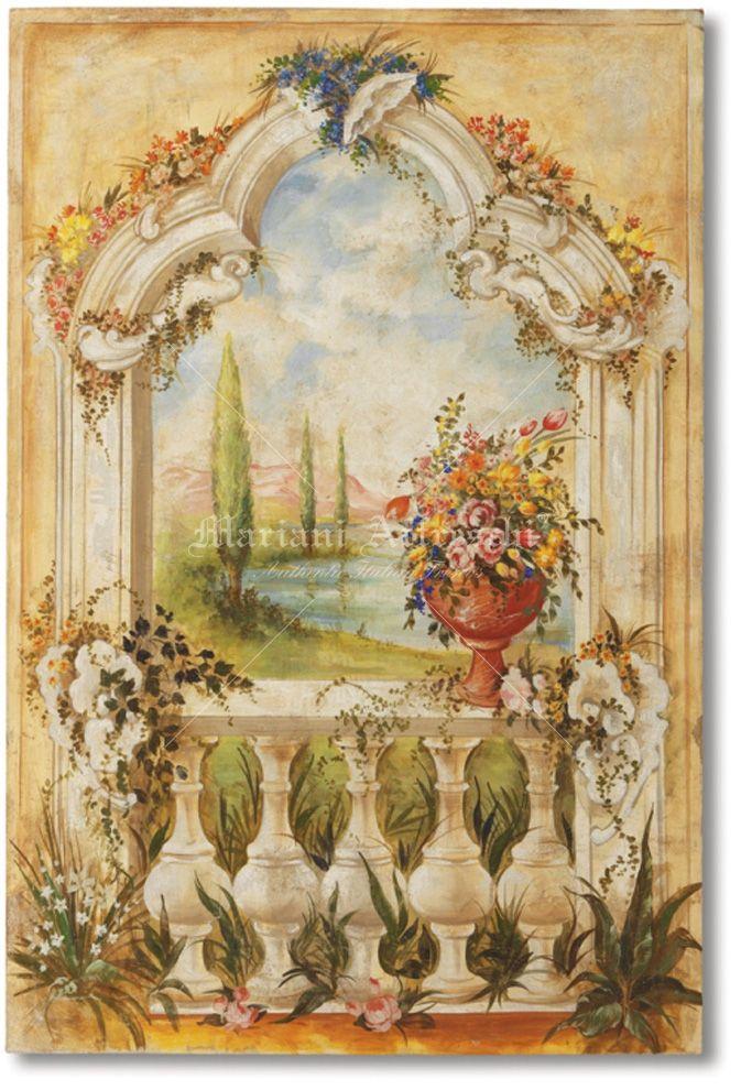 Mariani affreschi landscapes and trompe l oeil - Trompe l oeil finestra ...