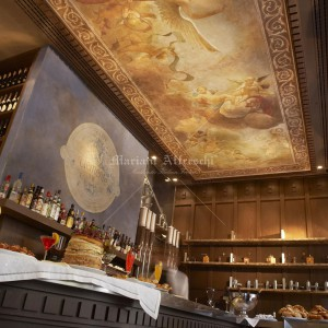"""Flight of the Angel"" glued to the ceiling of the Clemente VIII café in Athens"