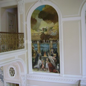 Fresco in 17th century style for a private villa in Monte Carlo