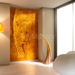 """Leopard"" on gold leaf. ArteMariani modern collection"